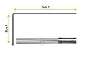 Speedy 28mm Aspect L-Shaped Bay Window Curtain Pole Chrome