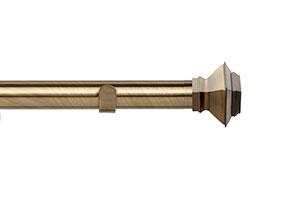 Speedy Aztec 28mm Eyelet Curtain Pole  Antique Brass