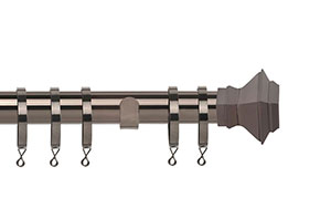 Speedy Aztec 28mm Polished Graphite Metal Curtain Pole