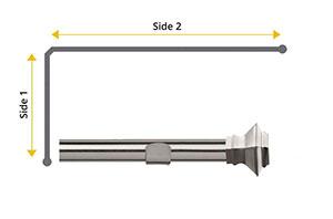 Speedy 28mm Aztec L-Shaped Bay Window Curtain Pole Satin Silver