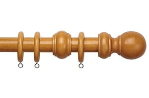 Speedy County 28mm Antique Pine Wooden Curtain Pole