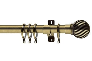 Swish 28mm Elements Curzon Antique Brass Metal Curtain Pole