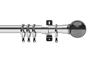 Swish 28mm Elements Curzon Chrome Metal Curtain Pole