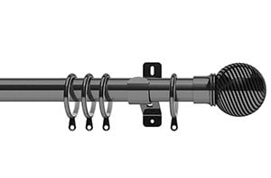 Swish 35mm Elements Curzon Graphite Metal Curtain Pole