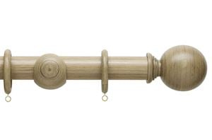 Hallis 35mm Origins Ball Quarry Stone Wooden Curtain Pole