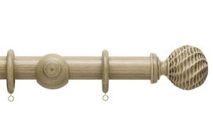 Hallis 35mm Origins Ammonite Quarry Stone Wooden Curtain Pole