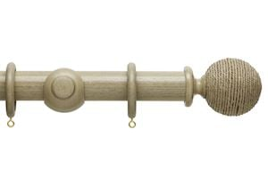 Hallis 35mm Origins Twine Millstone Grey Wooden Curtain Pole