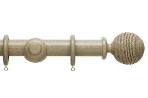 Hallis 35mm Origins Twine Millstone Grey Wooden Curtain Pole