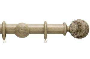 Hallis 35mm Origins Twine Quarry Stone Wooden Curtain Pole