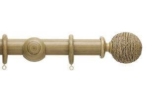 Hallis 35mm Origins Twine Shale Wooden Curtain Pole