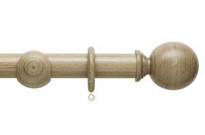 Hallis 45mm Origins Ball Quarry Stone Wooden Curtain Pole