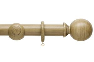 Hallis 45mm Origins Ball Shale Wooden Curtain Pole