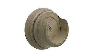 Hallis 45mm Origins Millstone Grey Wooden Recess Brackets