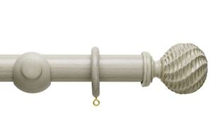 Hallis 45mm Origins Ammonite Flint Grey Wooden Curtain Pole