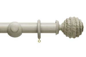 Hallis 45mm Origins Fossil Ball Flint Grey Wooden Curtain Pole