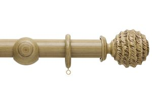 Hallis 45mm Origins Fossil Ball Shale Wooden Curtain Pole