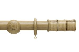 Hallis 35mm Origins Bamboo Shale Wooden Curtain Pole