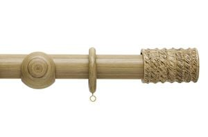 Hallis 45mm Origins Fossil Barrel Shale Wooden Curtain Pole