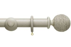 Hallis 45mm Origins Twine Flint Grey Wooden Curtain Pole - Thumbnail 1