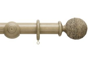 Hallis 45mm Origins Twine Quarry Stone Wooden Curtain Pole