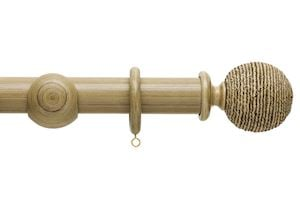 Hallis 45mm Origins Twine Shale Wooden Curtain Pole