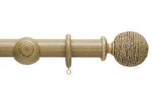 Hallis 45mm Origins Twine Shale Wooden Curtain Pole