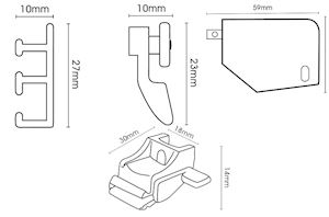 Hallis Superglide Corded Metal Curtain Track White - Thumbnail 2