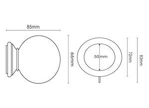 Integra 35mm Masterpiece Ball Cream Gold Wooden Curtain Pole - Thumbnail 3