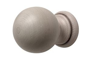 Rolls 45mm Modern Country Brushed Ivory Ball Finial  - Thumbnail 1