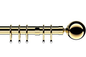 Speedy 28mm Nikola Metal Curtain Pole Bright Brass