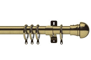 Swish 28mm Elements Nexus Antique Brass Metal Curtain Pole