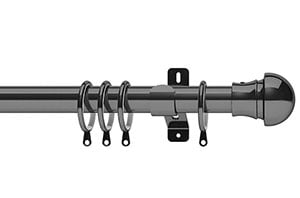 Swish 28mm Elements Nexus Graphite Metal Curtain Pole