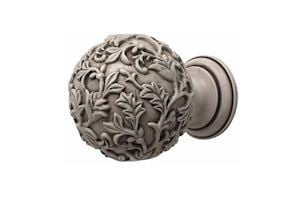 Rolls 45mm Modern Country Brushed Ivory Floral Ball Finial