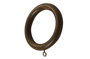 Rolls 55mm Modern Country Dark Oak Wooden Rings