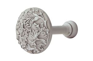 Rolls Modern Country Brushed Ivory Floral Wooden Holdback