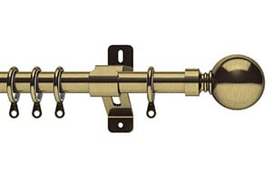 Swish 25-28mm Elements Belgravia Extendable Curtain Pole  Antique Brass