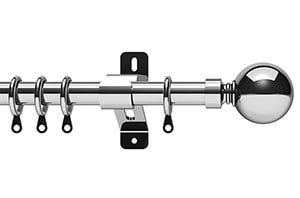Swish 28mm Elements Belgravia Chrome Metal Curtain Pole