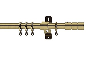 Swish 19mm Elements Brooklyn Antique Brass Metal Curtain Pole