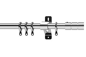 Swish 19mm Elements Brooklyn Chrome  Metal Curtain Pole
