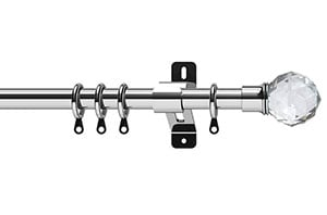 Swish 28mm Elements Capella Chrome Metal Curtain Pole