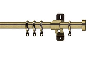 Swish 19mm Elements Stud Antique Brass Metal Curtain Pole