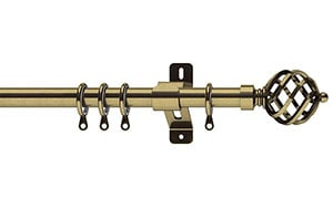 Swish Elements Titan 25-28mm Antique Brass Extendable Curtain Pole