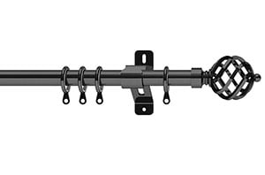 Swish 28mm Elements Titan Graphite Metal Curtain Pole
