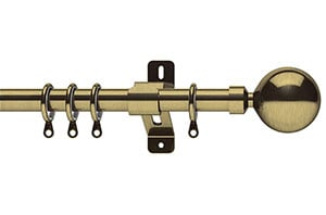 Swish 19mm Elements Zorb Antique Brass Metal Curtain Pole