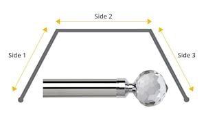 Speedy 28mm Bella 3 Sided Bay Window Curtain Pole Chrome