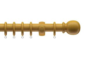 Speedy 28mm Victory Wood Antique Pine Wooden Curtain Pole