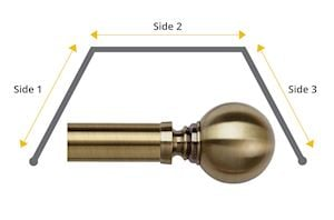 Speedy 35mm Globe 3 Sided Bay Window Antique Brass - Thumbnail 1