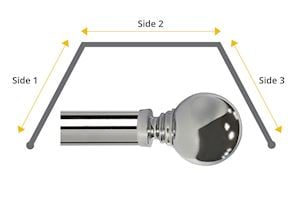 Speedy 35mm Globe 3 Sided Bay Window Chrome