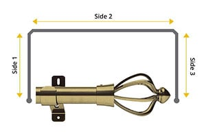 Swish Design Studio Consort 28mm Antique Brass Bay Window Curtain Pole