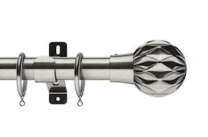 Swish 28mm Design Studio Cruzar Satin Steel Metal Curtain Pole